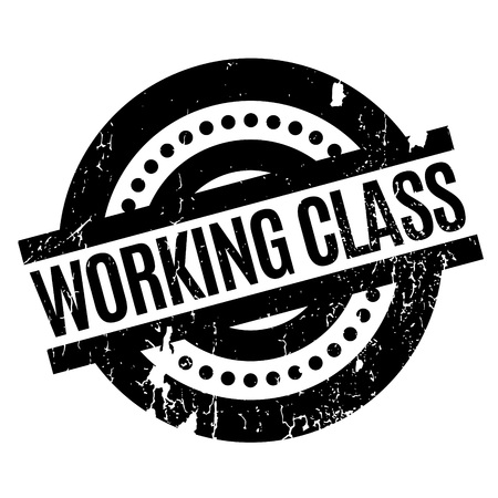 Working Class rubber stamp. Grunge design with dust scratches. Effects can be easily removed for a clean, crisp look. Color is easily changed. Stock Photo