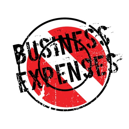 Business Expenses rubber stamp. Grunge design with dust scratches. Effects can be easily removed for a clean, crisp look. Color is easily changed. Stock Photo