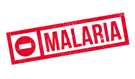 mosquitoes: Malaria rubber stamp. Grunge design with dust scratches. Effects can be easily removed for a clean, crisp look. Color is easily changed. Illustration