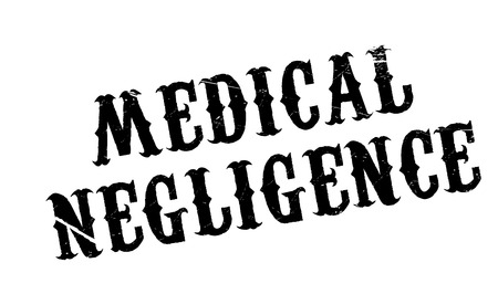forgetful: Medical Negligence rubber stamp. Grunge design with dust scratches. Effects can be easily removed for a clean, crisp look. Color is easily changed. Illustration
