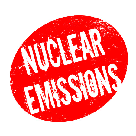 riesgo biologico: Nuclear Emissions rubber stamp. Grunge design with dust scratches. Effects can be easily removed for a clean, crisp look. Color is easily changed.