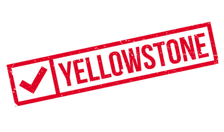 Yellowstone rubber stamp. Grunge design with dust scratches. Effects can be easily removed for a clean, crisp look. Color is easily changed. Stock Photo