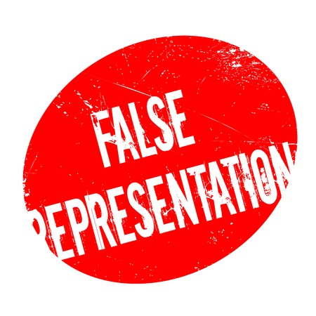 False Representation rubber stamp. Grunge design with dust scratches. Effects can be easily removed for a clean, crisp look. Color is easily changed. 版權商用圖片 - 74303139