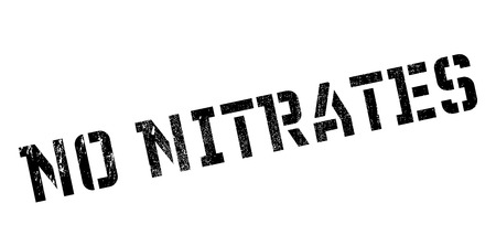 No Nitrates rubber stamp. Grunge design with dust scratches. Effects can be easily removed for a clean, crisp look. Color is easily changed. Illustration