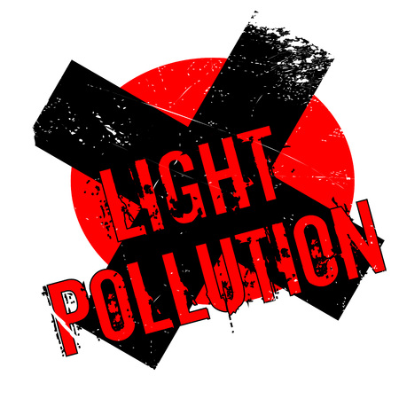 Light Pollution rubber stamp. Grunge design with dust scratches. Effects can be easily removed for a clean, crisp look. Color is easily changed.
