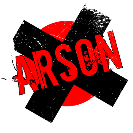 Arson rubber stamp. Grunge design with dust scratches. Effects can be easily removed for a clean, crisp look. Color is easily changed.