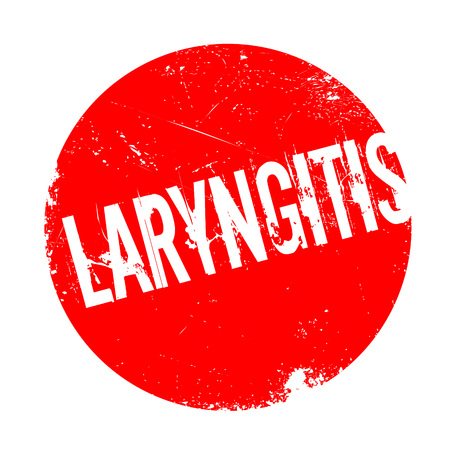inflamed: Laryngitis rubber stamp. Grunge design with dust scratches. Effects can be easily removed for a clean, crisp look. Color is easily changed.