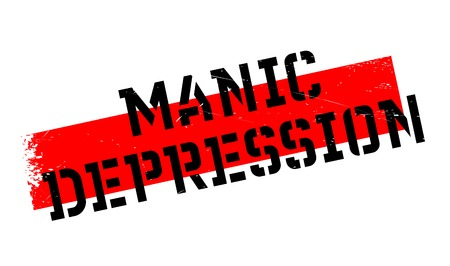 Manic Depression rubber stamp. Grunge design with dust scratches. Effects can be easily removed for a clean, crisp look. Color is easily changed. Illustration