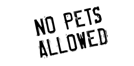 not permitted: No Pets Allowed rubber stamp. Grunge design with dust scratches. Effects can be easily removed for a clean, crisp look. Color is easily changed. Illustration