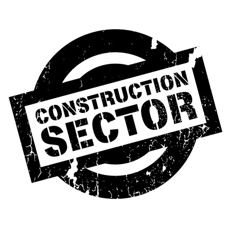 building site: Construction Sector rubber stamp. Grunge design with dust scratches. Effects can be easily removed for a clean, crisp look. Color is easily changed.