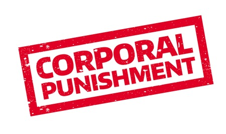 sentenced: Corporal Punishment rubber stamp. Grunge design with dust scratches. Effects can be easily removed for a clean, crisp look. Color is easily changed.