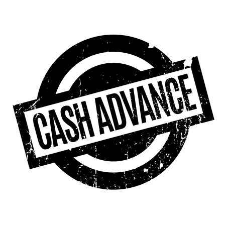 beforehand: Cash Advance rubber stamp. Grunge design with dust scratches. Effects can be easily removed for a clean, crisp look. Color is easily changed.