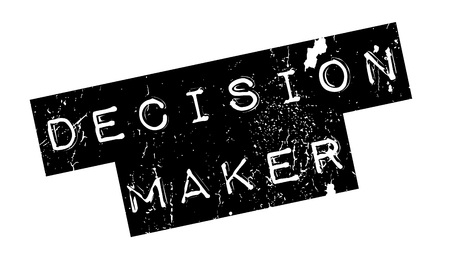 right choice: Decision Maker rubber stamp. Grunge design with dust scratches. Effects can be easily removed for a clean, crisp look. Color is easily changed.