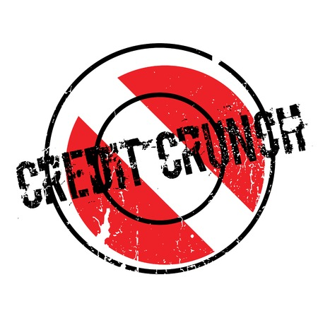 Credit Crunch rubber stamp. Grunge design with dust scratches. Effects can be easily removed for a clean, crisp look. Color is easily changed. Illustration