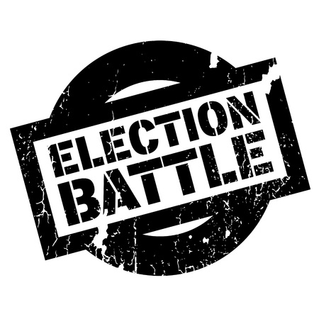 right choice: Election Battle rubber stamp. Grunge design with dust scratches. Effects can be easily removed for a clean, crisp look. Color is easily changed.