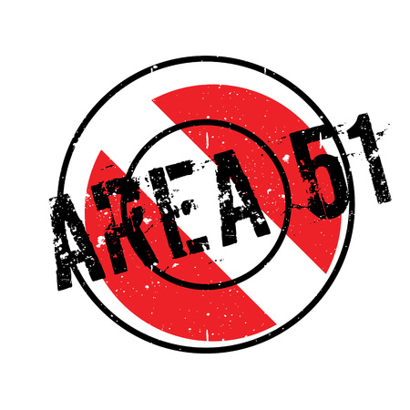 unidentified flying object: Area 51 rubber stamp. Grunge design with dust scratches. Effects can be easily removed for a clean, crisp look. Color is easily changed.
