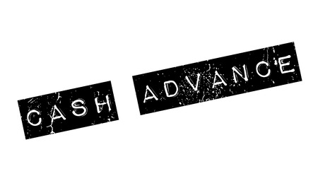 Cash Advance rubber stamp. Grunge design with dust scratches. Effects can be easily removed for a clean, crisp look. Color is easily changed.