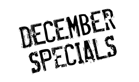 morsel: December Specials rubber stamp. Grunge design with dust scratches. Effects can be easily removed for a clean, crisp look. Color is easily changed.