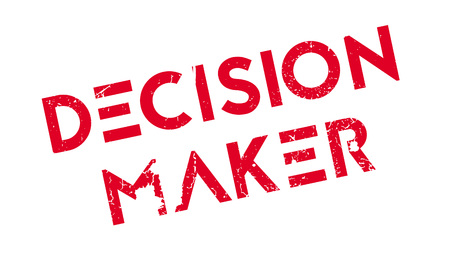 good judgment: Decision Maker rubber stamp. Grunge design with dust scratches. Effects can be easily removed for a clean, crisp look. Color is easily changed.