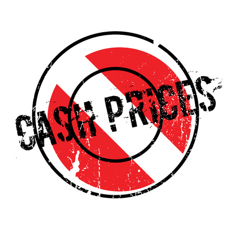 Cash Prices rubber stamp. Grunge design with dust scratches. Effects can be easily removed for a clean, crisp look. Color is easily changed. Stock Photo