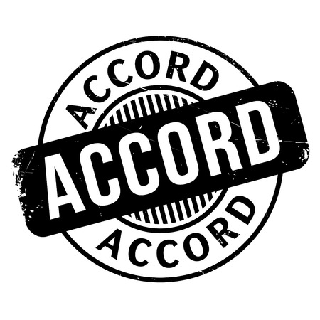 Accord rubber stamp. Grunge design with dust scratches.