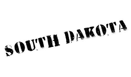 South Dakota rubber stamp. Grunge design with dust scratches.