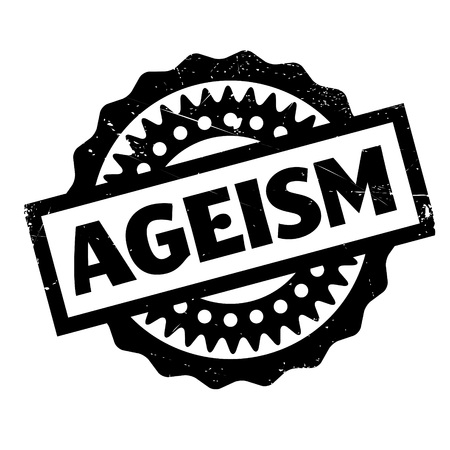 discriminate: Ageism rubber stamp. Grunge design with dust scratches. Effects can be easily removed for a clean, crisp look. Color is easily changed.