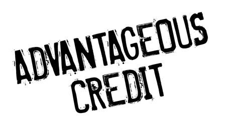 auspicious: Advantageous Credit rubber stamp. Grunge design with dust scratches.