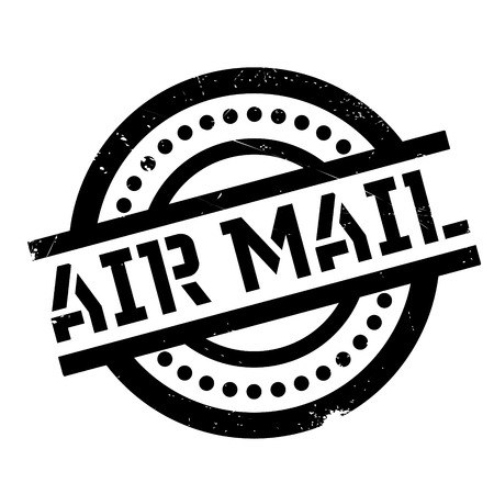 airmail stamp: Air Mail rubber stamp. Grunge design with dust scratches. Effects can be easily removed for a clean, crisp look. Color is easily changed.