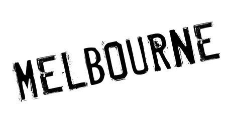 Melbourne rubber stamp. Grunge design with dust scratches. Effects can be easily removed for a clean, crisp look. Color is easily changed. Illustration