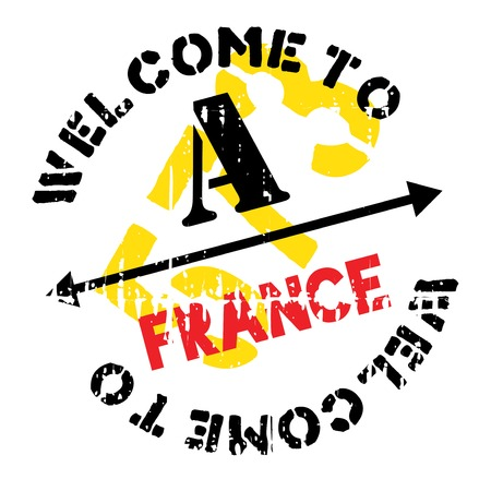 France rubber stamp. Grunge design with dust scratches. Effects can be easily removed for a clean, crisp look. Color is easily changed.