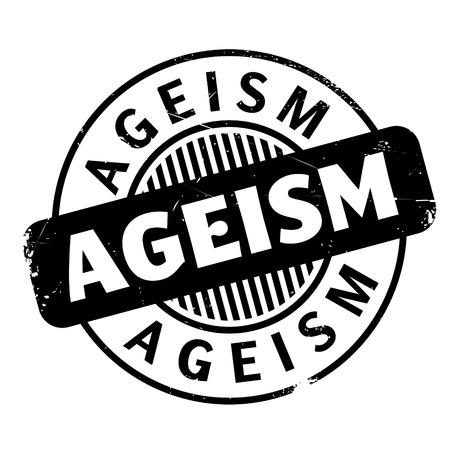 estereotipo: Sello de caucho de Ageism. Diseño de grunge con rasguños de polvo. Los efectos se pueden quitar fácilmente para un aspecto limpio y nítido. El color se cambia fácilmente.