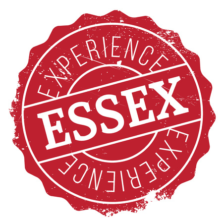 english culture: Essex rubber stamp. Grunge design with dust scratches. Effects can be easily removed for a clean, crisp look. Color is easily changed. Illustration