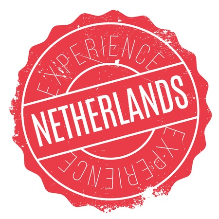 Netherlands rubber stamp. Grunge design with dust scratches. Effects can be easily removed for a clean, crisp look. Color is easily changed.