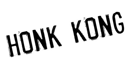 Honk Kong rubber stamp. Grunge design with dust scratches. Effects can be easily removed for a clean, crisp look. Color is easily changed.