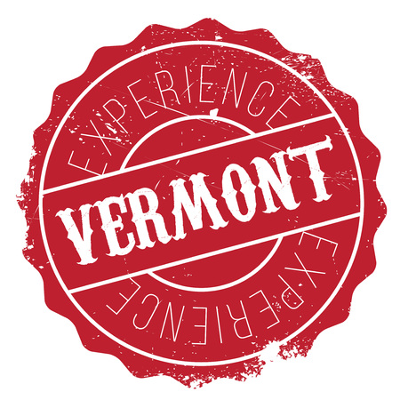 Vermont rubber stamp. Grunge design with dust scratches. Effects can be easily removed for a clean, crisp look. Color is easily changed. Illustration
