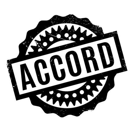 congruence: Accord rubber stamp. Grunge design with dust scratches. Effects can be easily removed for a clean, crisp look. Color is easily changed.
