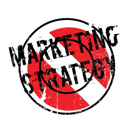 Marketing Strategy rubber stamp. Grunge design with dust scratches. Effects can be easily removed for a clean, crisp look. Color is easily changed. Illustration