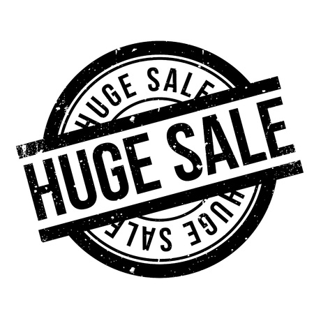tremendous: Huge Sale rubber stamp. Grunge design with dust scratches. Effects can be easily removed for a clean, crisp look. Color is easily changed. Stock Photo