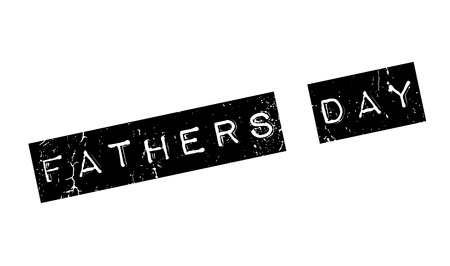Fathers Day rubber stamp. Grunge design with dust scratches. Effects can be easily removed for a clean, crisp look. Color is easily changed.