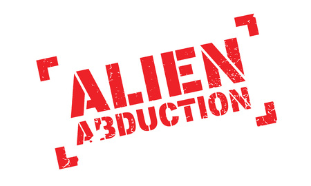 abducted: Alien Abduction rubber stamp. Grunge design with dust scratches. Effects can be easily removed for a clean, crisp look. Color is easily changed.