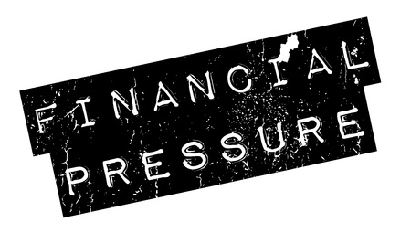 Financial Pressure rubber stamp. Grunge design with dust scratches. Effects can be easily removed for a clean, crisp look. Color is easily changed. Illusztráció