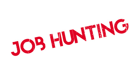 Job Hunting rubber stamp. Grunge design with dust scratches. Effects can be easily removed for a clean, crisp look. Color is easily changed.