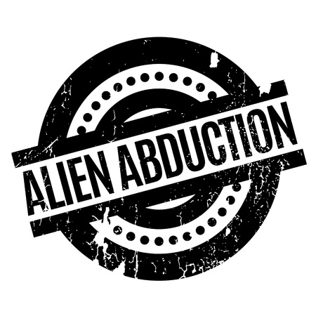 ufo conspiracy theory: Alien Abduction rubber stamp. Grunge design with dust scratches. Effects can be easily removed for a clean, crisp look. Color is easily changed.