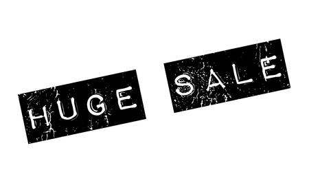 extensive: Huge Sale rubber stamp. Grunge design with dust scratches. Effects can be easily removed for a clean, crisp look. Color is easily changed. Illustration