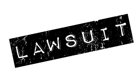 taken: Lawsuit rubber stamp. Grunge design with dust scratches. Effects can be easily removed for a clean, crisp look. Color is easily changed.