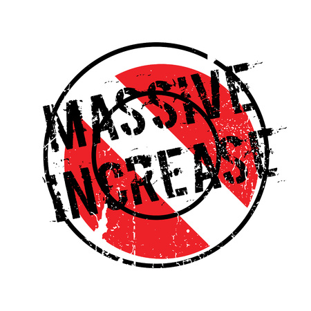 Massive Increase rubber stamp. Grunge design with dust scratches. Effects can be easily removed for a clean, crisp look. Color is easily changed.