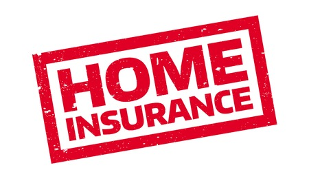 Home Insurance rubber stamp. Grunge design with dust scratches. Effects can be easily removed for a clean, crisp look. Color is easily changed. Illustration