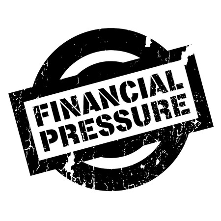 Financial Pressure rubber stamp. Grunge design with dust scratches. Effects can be easily removed for a clean, crisp look. Color is easily changed.