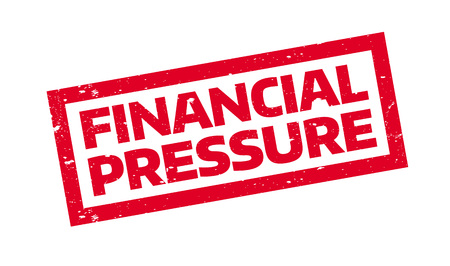 pressurized: Financial Pressure rubber stamp. Grunge design with dust scratches. Effects can be easily removed for a clean, crisp look. Color is easily changed. Illustration